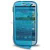 Case เคส แบบฝาเปิด ชนิดใส วัสดุ TPU Samsung Galaxy S3 SIII (i9300) สีฟ้า