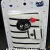 กระเป๋าใส่บัตร แบบผ้า ลายทางแมว
