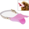 ที่ครอบปากสุนัข แบบปากเป็ด ก๊าบๆ สำหรับสุนัขขนาดเล็ก (Pink)
