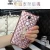 (442-028)เคสมือถือ Case Huawei GR5 เคสนิ่มใสขอบชุบแววลายโมเสคแก้ว