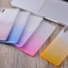 (436-103)เคสมือถือโซนี่ Case Sony Xperia XA เคสนิ่มไล่โทนสีพื้นหลัง Glitter กากเพชร