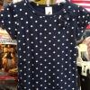 Palomino เสื้อยืดสีกรมลายจุด แขนตุ๊กตา ติดโบว์เก๋ๆ ช่วงอก ใส่กับยีนส์ น่ารักมากค่ะ size 92, 98