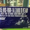 ZAKU II HEAD [BLACK TRI-STARS CUSTOM VER.] P-Bandai