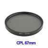 67mm Camera CPL Filter Lens (Black)
