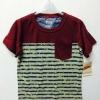 Levi (เด็กโต)----งานแท้ เสื้อยืด Levi สีแดงเลือดหมู ลายริ้วทหาร มีกระเป๋าที่อก ผ้านิ่มมากค่ะ (ชนเว็บ) size 6, 7, 8, 9