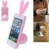 Case เคส (High Quality Rabito TPU Case + Plush Bracket) iPhone 5 (Pink)