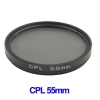 55mm Camera CPL Filter Lens (Black)