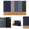 (436-106)เคสมือถือโซนี่ Case Sony Xperia X เคสนิ่มฝาพับเปิดข้างสไตล์ยีนส์วินเทจ