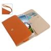 Case เคส แบบกระเป๋า สีส้ม Samsung GALAXY S4 IV (i9500)