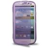 Case เคส แบบฝาเปิด ชนิดใส วัสดุ TPU Samsung Galaxy S3 SIII (i9300) สีม่วง
