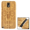 Woodcarving National Style Symmetry Pattern Detachable Bamboo Material Case เคส Samsung Galaxy Note 3 (III) / N9000 ซัมซุง กาแล็คซี่ โน๊ต 3