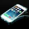 สายนาฬิกา เนื้อโลหะ bumper Case สำหรับ iPhone 5 & 5S (Blue)