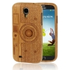 Case เคส ไม้ไผ่ ลาย รูปกล้อง Samsung Galaxy S 4 IV (i9500)