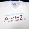 เสื้อยืด Yes Or No 2 สีขาวไซส์ XL