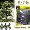 TR1103 ชุดคิทต้นไม้แบบทำเอง ขนาด 5-7 นิ้ว คละสี 7 ต้น( สำหรับ HO Scale )