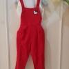 (เด็กโต) ชุดเอื๊ยมคิตตึ้สีแดงสดใส พร้อมเสื้อตัวในสีขาว น่ารักม๊ากค่ะ ไซส์ 13