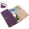 Case เคส สไตล์กระเป๋าสตางค์ Dark Purple Samsung GALAXY S4 IV (i9500)