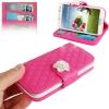 Case เคส กระเป๋าหนังนุ่ม สีชมพูเข้ม Samsung GALAXY S4 IV (i9500) redictshop