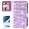 Rubbery Diamond Encrusted for Samsung Galaxy Note II / N7100 (Purple)