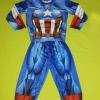 Captain America (งานลิขสิทธิ์) ชุดแฟนซีเด็กกัปตันอเมริกา 3 ชิ้น เสื้อ กางเกง & หน้ากาก ให้คุณหนูๆ ได้ใส่ตามจิตนาการ ผ้ายืด ใส่สบายค่ะ หรือจะใส่เป็นชุดนอนก็ได้ค่ะ งานสวยๆ ห้ามพลาดนะคะ size 4, 6,8, 10