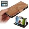 Case เคส แบบกระเป๋าหนัง ลายแผนที่โลก Samsung GALAXY S4 IV (i9500)
