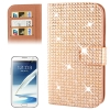 Rubbery Diamond Encrusted for Samsung Galaxy Note II / N7100 (Golden)