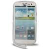 Case เคส แบบฝาเปิด ชนิดใส วัสดุ TPU Samsung Galaxy S3 SIII (i9300) สีขาว