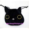 ถุงผ้าหูรูด ลายแมวดำ Kutsushita แบบใหม่ (ซื้อ 12 ชิ้น ราคาส่ง 100 บาท/ชิ้น)