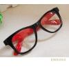 แว่นตาแฟชั่น เกาหลี EWK004 กรอบดำ ขาสีแดง
