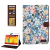 Peony Pattern Denim Case Samsung Galaxy Note 10.1 >>> P600 (2014 Edition)