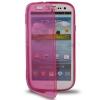 Case เคส แบบฝาเปิด ชนิดใส วัสดุ TPU Samsung Galaxy S3 SIII (i9300) ชมพูเข้ม
