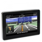 GPS Navigator จอ 7 inch TFT / Touch-screen / Free 2GB TF Card and Map / Bluetooth / AV / Voice Broadcast /FM (Black)