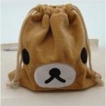 ถุงผ้าหูรูด ลาย Rilakkuma หมีน้ำตาล (ซื้อ 12 ชิ้น ราคาส่งชิ้นละ 100 บาท)