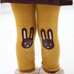 (Pre) กางเกงเลคกิ้ง กระต่ายหูยาว สีเหลือง