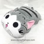 แมวน้อยจี้จัง ตุ๊กตาหมอนผ้าห่ม ขนาด 3.5 ฟุต เนื้อผ้าขนหนูนุ่มมากๆ เย็บขอบ มีซิปค่ะ