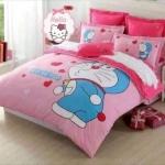 ชุดผ้าปูที่นอน ลายโดเรมอน Doraemon ขนาด 6 ฟุต แบบที่ 1