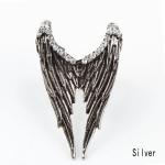 Angel Wing Silver Ring แหวนแฟชั่นโลหะ รูปปีกนก เท่ๆ สีเงิน