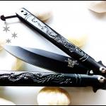 มีดบาลีซอง Black Dragon Balisong TKBS14NV