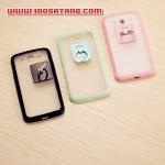 (406-014)เคสมือถือซัมซุงแกรนด์ case grand 2 เคสขอบนิ่มพื้นหลังพลาสติกใสติดแหวนสำหรับตั้งโทรโทรศัพท์