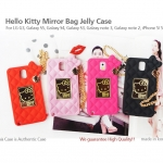 Authentic Hello Kitty Mirror Bag Silicon Case For Samsung Galaxy S4, S IV, i9500