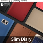 ARAREE : Slim Diary Leather Wallet Case For Galaxy Note 5