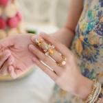 3in1 Punk Joint Flower Ring แหวนชุด3วงสีทองแต่งคริสตัลรูปดอกไม้ ไม่ซ้ำใคร