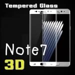 (443-006)ฟิล์มกระจกนิรภัย Note7 แบบเต็มหน้าจอ กันรอยขูดขีดกันน้ำกันรอยนิ้วมือ 3D 9H HD 2.5D