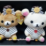 rilakkuma ตุ๊กตาหมี เซ็ตคู่ ริลัคคุมะ และ โคะริลัคคุมะ ใส่หมวก RK ราคาต่อคู่ค่ะ