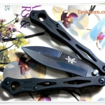 มีดควง Balisong Blue&Brown Spider TK2013/00402