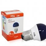 หลอดปิงปองสี LED Bulb FSL 2w B/G/W/Y/R