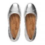 FitFlop F-Pop Ballerina leather Silver US 7