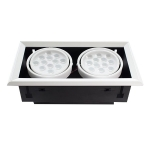 LED Downlight grill 2x12W