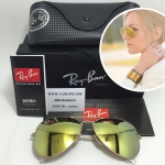 RB 3025 AVIATOR LARGE METAL 112/93 58-14 3N <ปรอททองอ่อน>