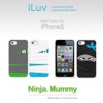 iLuv : Silicone Glow-In-The-Dark Case Ninja.Mummy For Apple iPhone 5